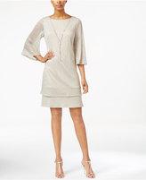 MSK Bell-Sleeve Necklace Dress