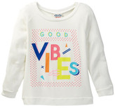 Junk Food Clothing Good Vibes Pullover Sweater (Little Girls & Big Girls)