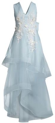 BCBGMAXAZRIA Tulle Evening Dress