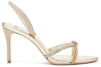 Sophia Webster Giovanna Glittered-leather Slingback Sandals - Womens - Gold