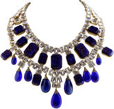 One Kings Lane Vintage Cobalt Blue Glass & Rhinestone Necklace