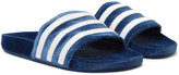 Adidas Originals - Adilette Striped Velvet Slides