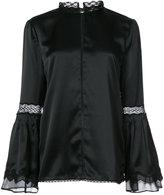 Jonathan Simkhai sheer detail blouse - women - Silk - XS