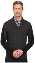 Perry Ellis Color Block Shawl Collar Pullover