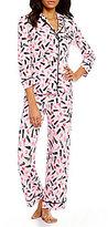 Kate Spade Lipstick-Print Jersey Pajamas