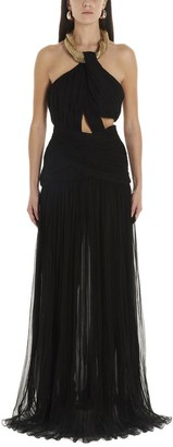 Moschino Draped Halterneck Maxi Dress