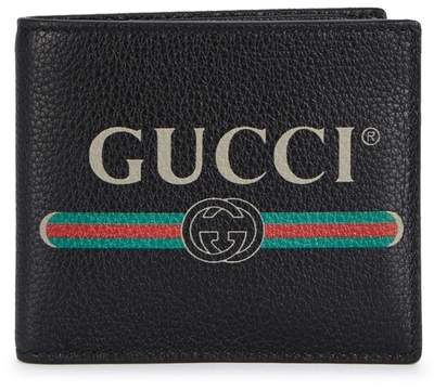 Gucci Logo-print Grained Leather Wallet