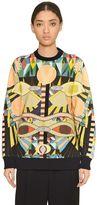 Givenchy Geometric Print Cotton Jersey Sweatshirt