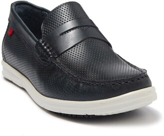 Marc Joseph New York Southport Perforated Leather Penny Loafer