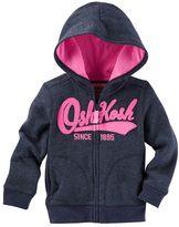 Osh Kosh Toddler Girl Applique Logo Zip-Up Hoodie