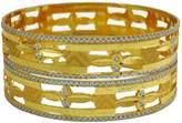 Banithani Indian Ethnic Goldplated Kada Bangle Set Bridesmaid Traditional Jewelry 2*8