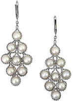 Effy White Pearl and Sterling Silver Chandelier Drop Earrings