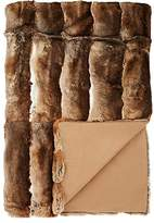 Adrienne Landau Striped Rabbit Fur Throw