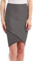 Black & White Stripe Pencil Skirt