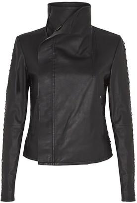 West 14th Paddington Drape Jacket Black Leather