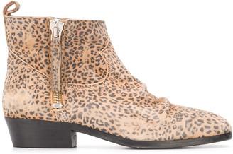 Golden Goose Leopard Ankle Boots