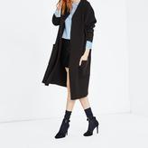 Maje Black lambskin leather mini skirt