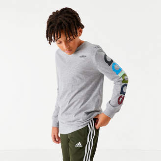 Boys' adidas Originals Arm Hit Long-Sleeve T-Shirt