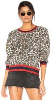 Pam & Gela Leopard Print Sweatshirt in Brown. - size XS (also in )