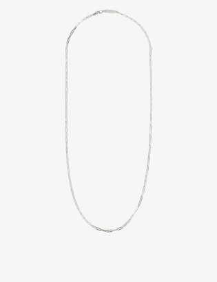 Northskull Rectangular sterling-silver chain necklace