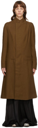 Haider Ackermann Brown Wool Proud Coat