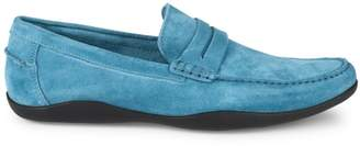 Harry's of London Basel 3D Kudu Suede Penny Loafers