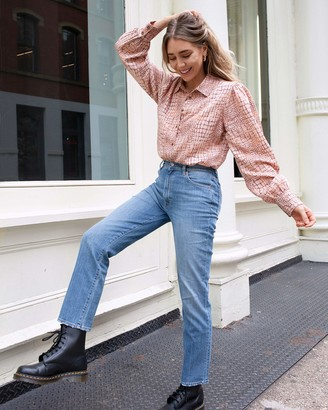 The Drop Women's Croc Print Loose Long Sleeve Button Down Shirt by @viktoria.dahlberg M