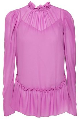 See by Chloe Ruffle-trimmed Georgette Blouse