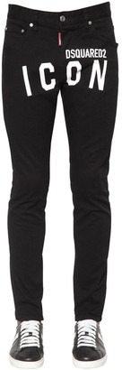DSQUARED2 15cm Skinny Dan Stretch Cotton Jeans