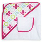 JJ Cole Hooded Towel in Pink Butterfly