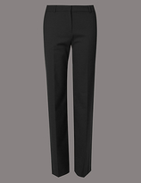Autograph Wool Blend Straight Leg Trousers
