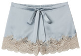 Ginia Silk Short With Lace