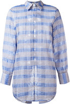 Au Jour Le Jour lace up back checked shirt - women - Cotton - 38