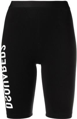 DSQUARED2 Logo-Print Compression Shorts