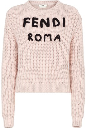 Fendi Logo Knitted Jumper
