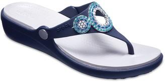 Crocs Sanrah Diamante Women's Wedge Sandals