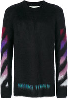Off-White brushed arrows pullover - men - Polyamide/Mohair/Wool - S