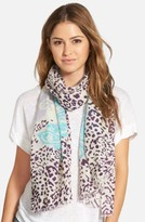 La Fiorentina Women's Mixed Print Wool Scarf