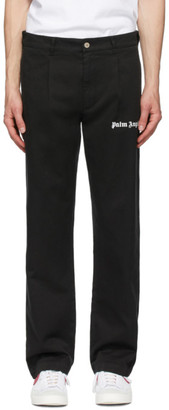 Palm Angels Black Classic Trousers