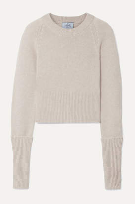 Prada Cropped Cashmere Sweater - Beige