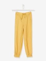 Vertbaudet Girls Loose Fit Printed Trousers