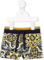 Dolce & Gabbana maiolica print shorts