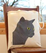 Bird Smokey Grey Cat Handy Bag