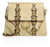 Chloé Faye Suede & Snakeskin Shoulder Bag