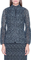 Akris St. Gallen Embroidered Zip-Front Jacket