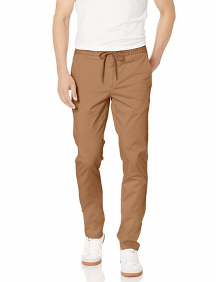 "Goodthreads Skinny-fit Washed Chino Drawstring Pant Beige (British Khaki) ((size: Small/30"" Inseam)"