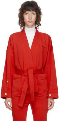 pushBUTTON SSENSE Exclusive Red Kimono Jacket