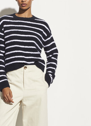 Vince Striped Boucle Crew