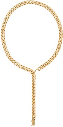 Burberry Gold-tone Chain Link Logo Belt
