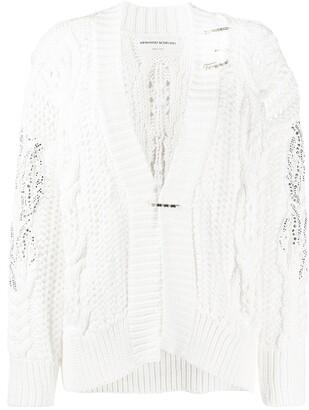 Ermanno Scervino Embellished Chunky-Knit Cardigan